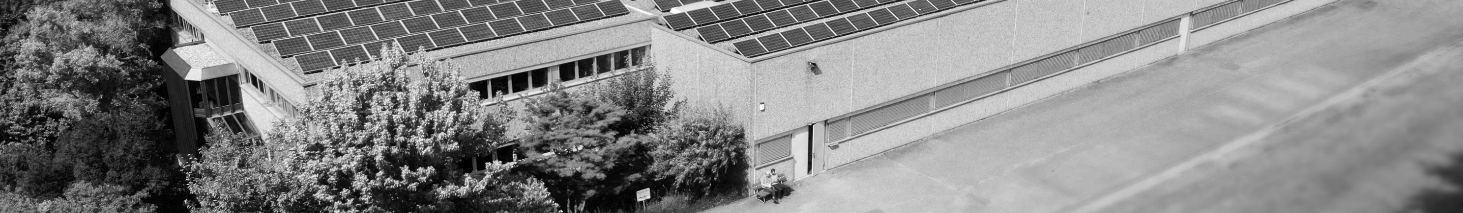 Henninger Gebaeude mit Solar Panels