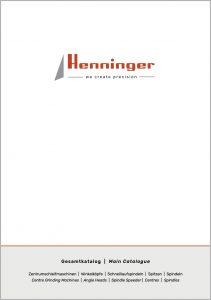 Henninger Produktkatalog centre hole grinding
